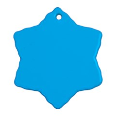 Color Deep Sky Blue Ornament (snowflake)
