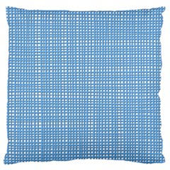 Blue Knitted Pattern Standard Flano Cushion Case (one Side) by goljakoff
