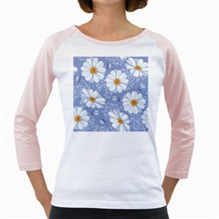 Chamomile Flowers Girly Raglan by goljakoff