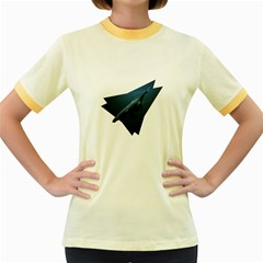 Whales In Deep Ocean Women s Fitted Ringer T-shirt by goljakoff