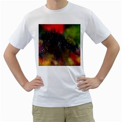 Abstract Paint Drops Men s T-shirt (white) (two Sided) by goljakoff