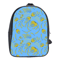 Folk Floral Pattern  Abstract Flowers Print  Seamless Pattern School Bag (xl) by Eskimos
