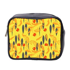 Folk Floral Pattern  Abstract Flowers Print  Seamless Pattern Mini Toiletries Bag (two Sides)