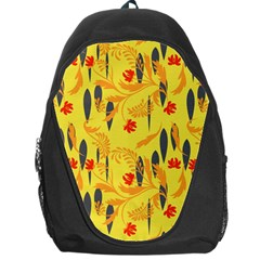Folk Floral Pattern  Abstract Flowers Print  Seamless Pattern Backpack Bag by Eskimos