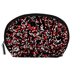 Patterntachesrougeblancnoir75 Accessory Pouch (large)