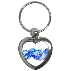 Blue Smoke Key Chain (heart) by goljakoff