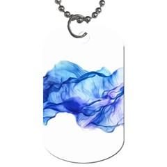 Blue Smoke Dog Tag (two Sides)