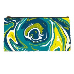 Green Vivid Marble Pattern 14 Pencil Case