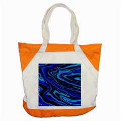 Blue Vivid Marble Pattern 16 Accent Tote Bag
