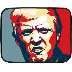 Trump Pop Art Double Sided Fleece Blanket (mini)  by goljakoff