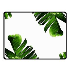 Banana Leaves Fleece Blanket (small)