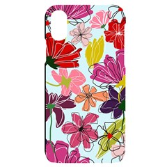 Flower Pattern Iphone X/xs Black Uv Print Case