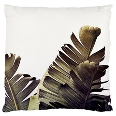 Vintage Banana Leaves Large Flano Cushion Case (two Sides) by goljakoff