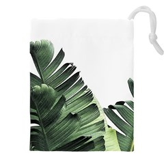 Banana Leaves Drawstring Pouch (5xl) by goljakoff