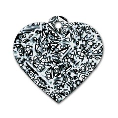 Beyond Abstract Dog Tag Heart (two Sides)