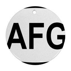 Afghanistan Afg Oval Sticker Ornament (round)