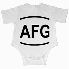 Afghanistan Afg Oval Sticker Infant Creepers