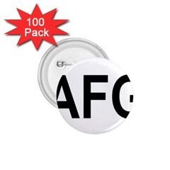 Afghanistan Afg Oval Sticker 1 75  Buttons (100 Pack)