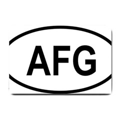 Afghanistan Afg Oval Sticker Small Doormat