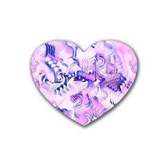 Hydrangea Blossoms Fantasy Gardens Pastel Pink And Blue Heart Coaster (4 Pack)