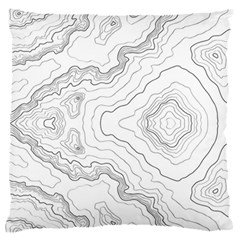 Topography Map Standard Flano Cushion Case (two Sides)