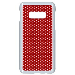 Stars Red Ink Samsung Galaxy S10e Seamless Case (white)