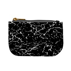 Black And White Grunge Abstract Print Mini Coin Purse