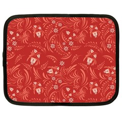 Folk Floral Pattern  Flowers Abstract Surface Design  Seamless Pattern Netbook Case (xxl)