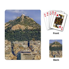 Atenas Aerial View Cityscape Photo Playing Cards Single Design (rectangle)