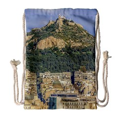 Atenas Aerial View Cityscape Photo Drawstring Bag (large)
