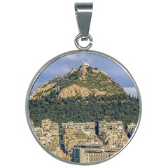 Atenas Aerial View Cityscape Photo 30mm Round Necklace