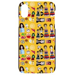 Drawing Collage Yellow Iphone Xr Black Uv Print Case