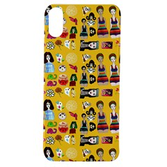 Drawing Collage Yellow Apple Iphone Xs Tpu Uv Case
