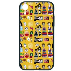 Drawing Collage Yellow Iphone Xr Soft Bumper Uv Case