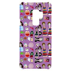 Drawing Collage Purple Samsung S9 Plus Black Uv Print Case