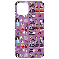 Drawing Collage Purple Iphone 11 Pro Black Uv Print Case
