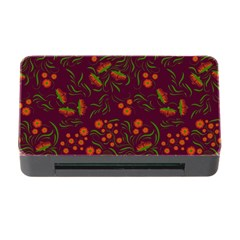 Folk Floral Art Pattern  Flowers Abstract Surface Design  Seamless Pattern Memory Card Reader With Cf