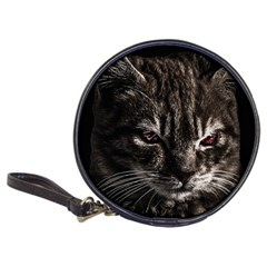 Creepy Kitten Portrait Photo Illustration Classic 20-cd Wallets