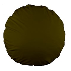 Antique Bronze Green Large 18  Premium Flano Round Cushions