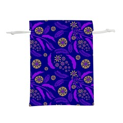 Folk Flowers Art Pattern Floral Abstract Surface Design  Seamless Pattern Lightweight Drawstring Pouch (s)
