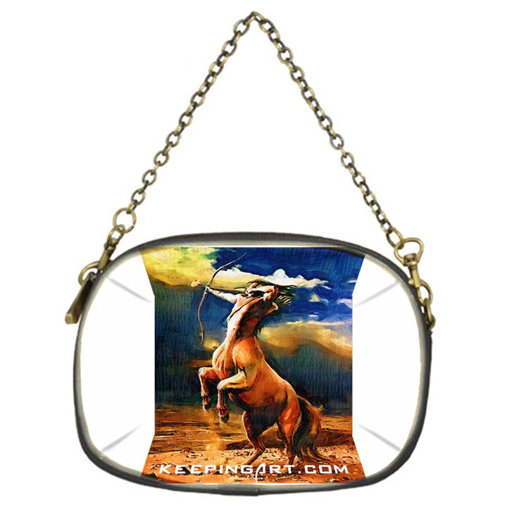 Painting Decorating Half Man Half Horse Chain Purse (one Side)