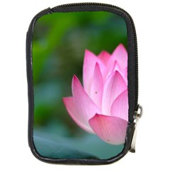 Pink Flowers Compact Camera Leather Case