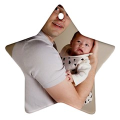 Father And Son Hug Ornament (star)