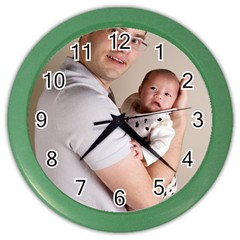 Father And Son Hug Color Wall Clock by ironman2222