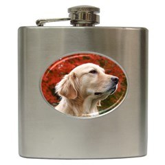 Dog Photo Cute Hip Flask (6 Oz) by swimsuitscccc