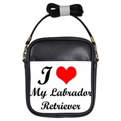 I Love My Labrador Retriever Girls Sling Bag by swimsuitscccc
