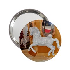 White Horse 2 25  Handbag Mirror by berry3333