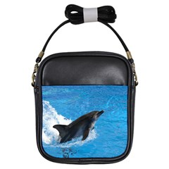 Swimming Dolphin Girls Sling Bag by knknjkknjdd