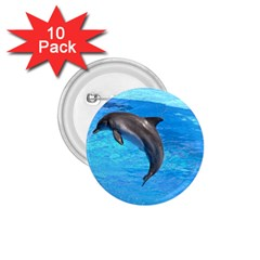 Jumping Dolphin 1 75  Button (10 Pack)