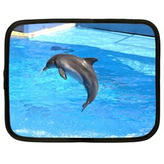 Jumping Dolphin Netbook Case (xl) by dropshipcnnet